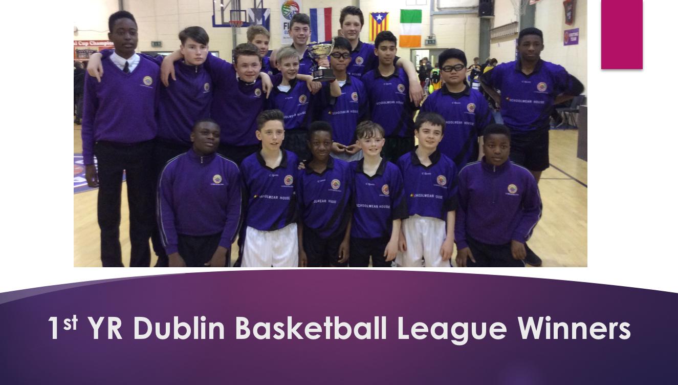 1st Yrae Basketball League Winners